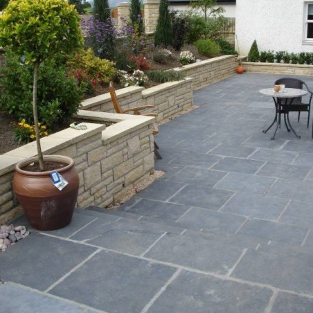 Black Limestone Value Paving - 600x900mm Single Size Pack