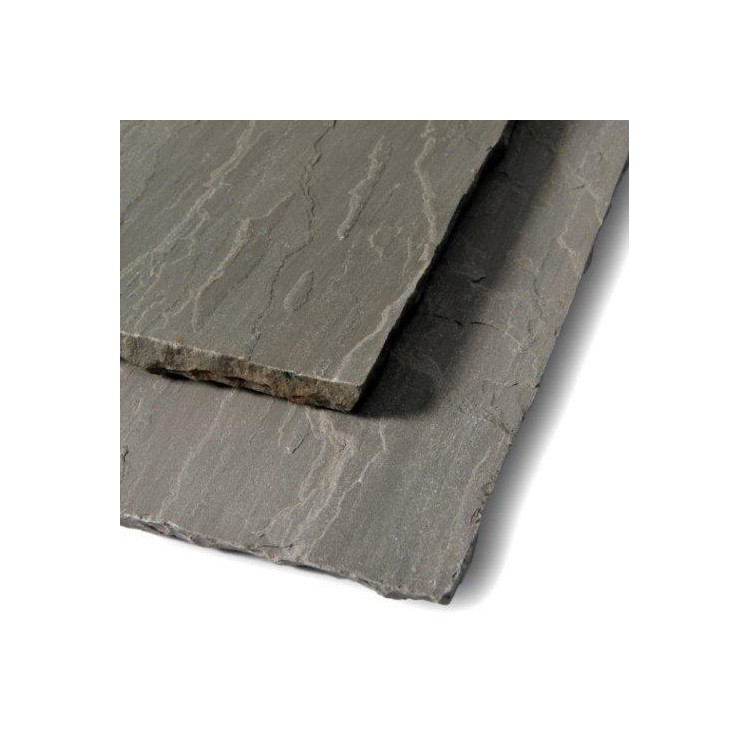 Calibrated Grey Riven Sandstone Patio Pack - Mixed Size Pack
