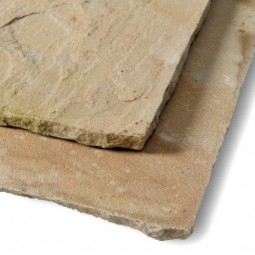 Calibrated Mint Riven Sandstone Patio Pack - Mixed Size Pack