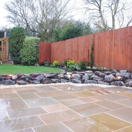 Pink Sawn & Sandblasted Paving - 600x800mm Single Size Pack