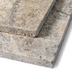 Silver Grey Travertine Roman Paving Patio Pack