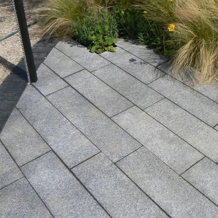 Silver Grey Granite Plank Paving 200x600mm Single Size