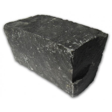 Black Basalt Cropped Granite Setts - 4.3m2 Or 2.15m2 Packs, 100x100x200mm