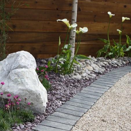 Black Limestone Riven Setts - 6.1m2 Pack, 100x100x40-70mm