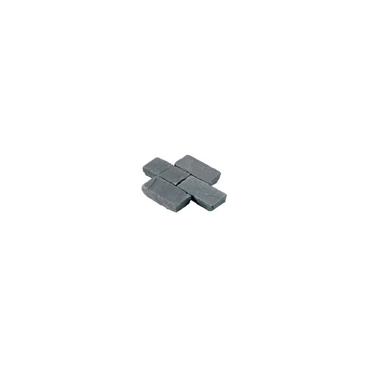 Black Limestone Riven Setts - 6.1m2 Pack, 100x200x40-70mm