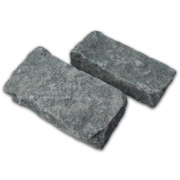 Dark Grey Cropped Granite Setts - 8m2 Or 4m2 Packs, 100x50x200mm