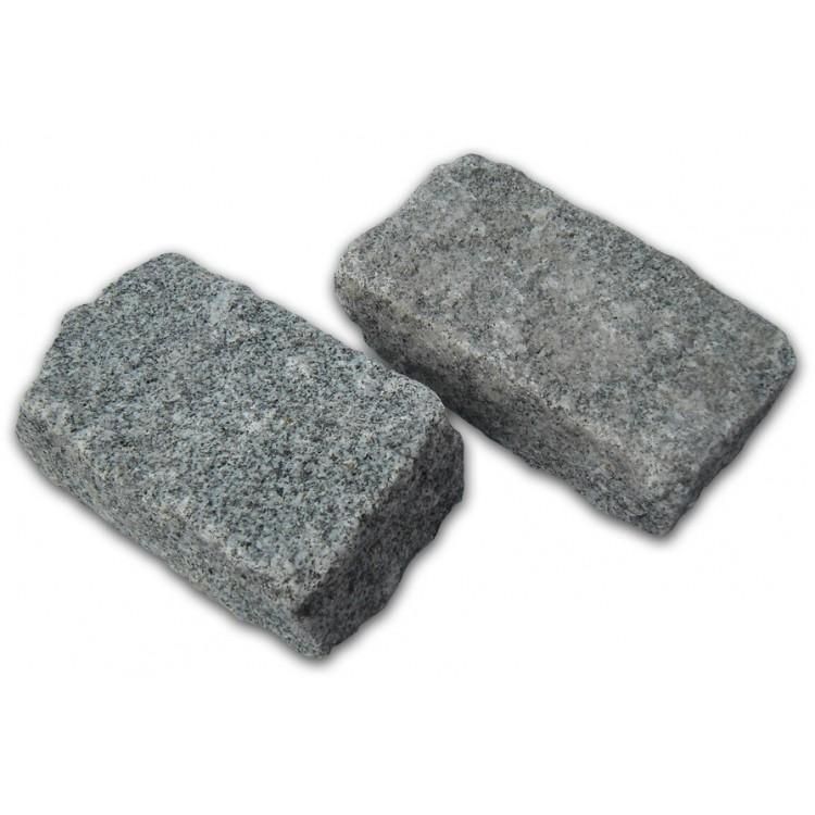 Medium Grey Cropped Granite Setts - 8m2 Or 4m2 Packs, 100x50x200mm