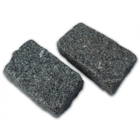 Medium Grey Cropped Granite Setts - 8m2 Or 4m2 Packs, 100x50x200mm