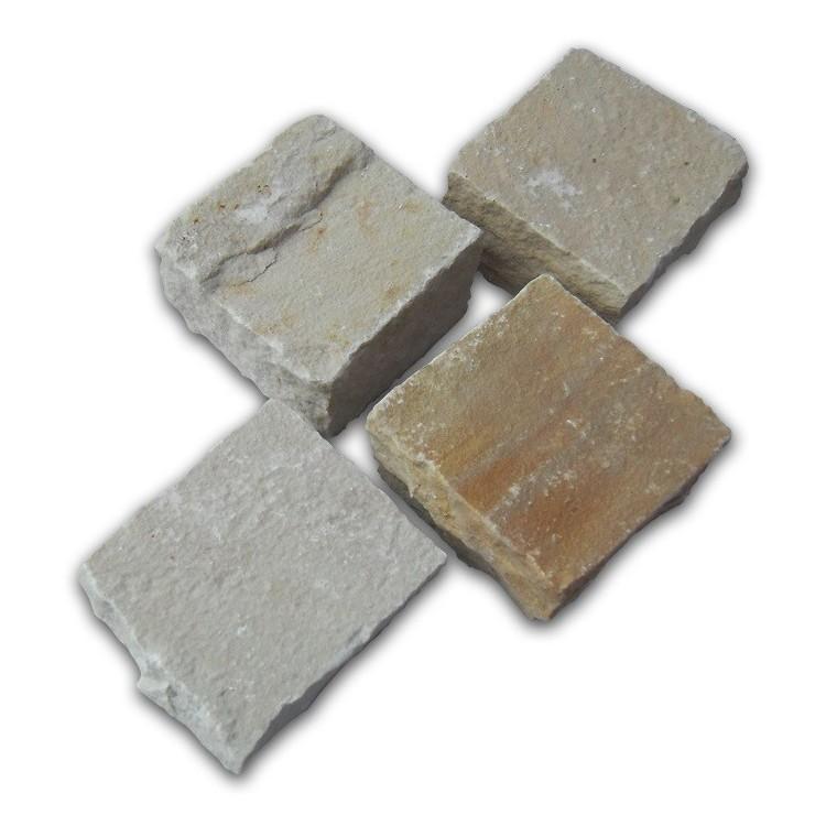 Mint Riven Sandstone Setts - 6.1m2 Pack, 100x100x40-70mm