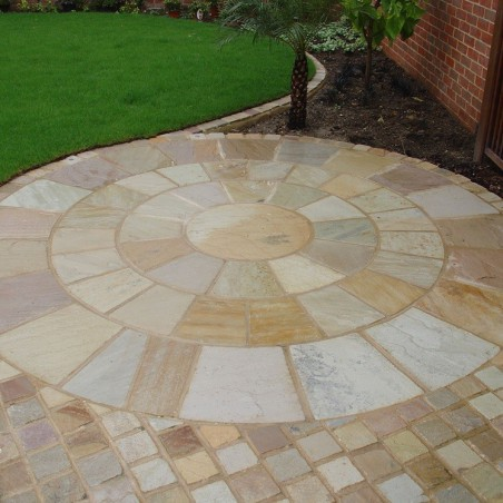 Mint Riven Sandstone Setts - 6.1m2 Pack, 100x100x40-70mm