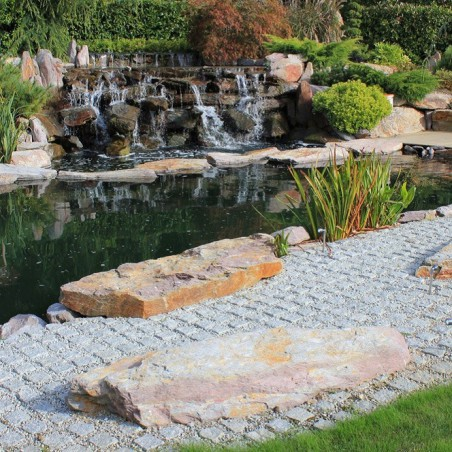 Silver/Grey Cropped Granite Setts - 9m2 Or 4.5m2 Packs, 100x50x100mm