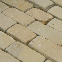 Tumbled Green Sandstone Setts - 7.1m2 Pack, 100x150-300x60-80mm