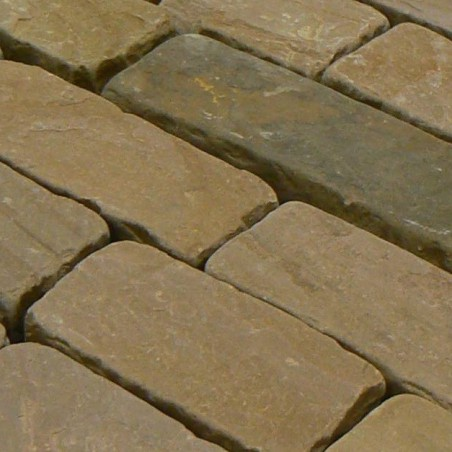 Tumbled Rustic Sandstone Setts - 7.1m2 Pack, 100x150-300x60-80mm