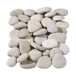 Flat Beige Pebbles 20-40mm  - Available in poly bags or bulk bags