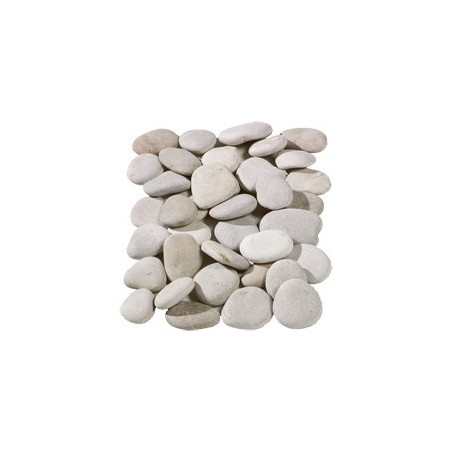 Flat Beige Pebbles 50-70mm - Available in poly bags or bulk bags
