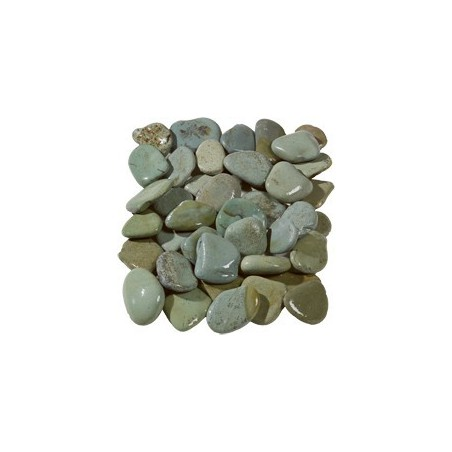 Flat Green Pebbles 50-70mm - Available in poly bags or bulk bags