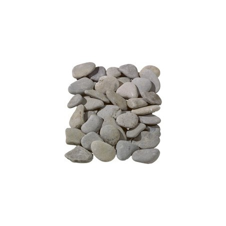 Flat Grey Pebbles 20-40mm  - Available in poly bags or bulk bags