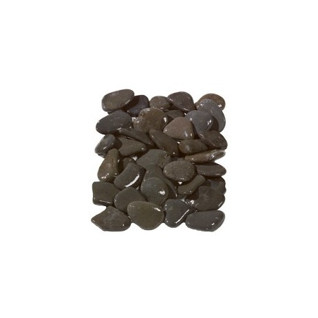 Flat Grey Pebbles 50-70mm  - Available in poly bags or bulk bags