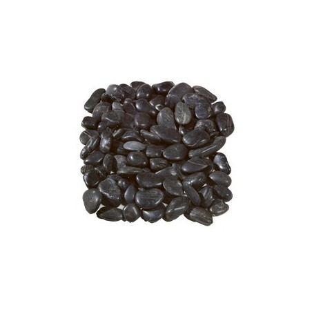 Polished Black Pebbles 20-60mm - Available in poly bags
