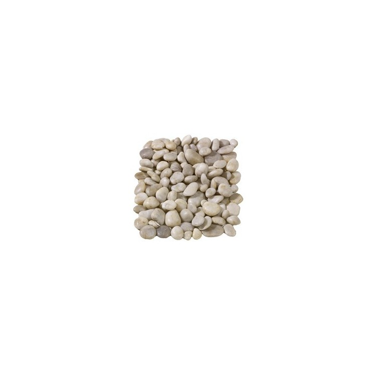 Polished White Pebbles 20-60mm - Available in poly bags