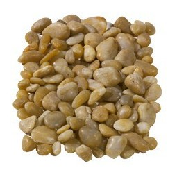 Polished Yellow Pebbles 20-60mm - Available in poly bags