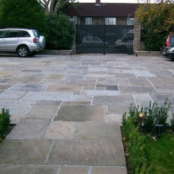Reclaimed Yorkstone Paving - Random lengths, widths and depths