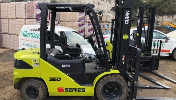 Milestone acquires two brand new, high spec Clark forklifts